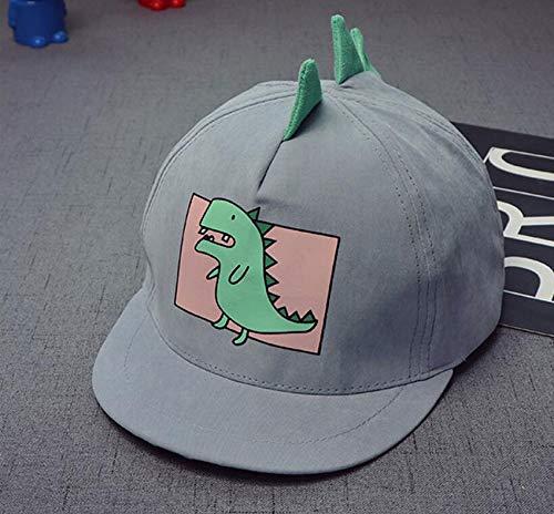 MEEDDDA Kinder Baseballkappe, Kinder Frühjahr Neue Baseballkappe, einstellbare Mädchen Mütze, Cartoon Animal Print Mütze, blau-grau, 48-54 cm -