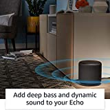 Echo Sub | Powerful subwoofer for your Echo-requires compatible Echo device and compatible music streaming service