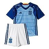 Adidas Mini Kit Federación Española de Futbol Conjunto Camiseta y pantalón Corto Selección 1ª equipación 2016-2017-KI, Niños, Azul/Blanco-(AZUSUA/MAROSC), 152