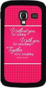 Dot Print Back Cover For Samsung Galaxy Ace2 Love Quotes Printed Case