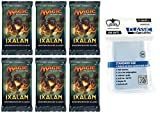 6 x Magic Ixalan - Booster Pack - Deutsch - German + 100 Ultimate Guard Sleeves - Magic: The Gathering