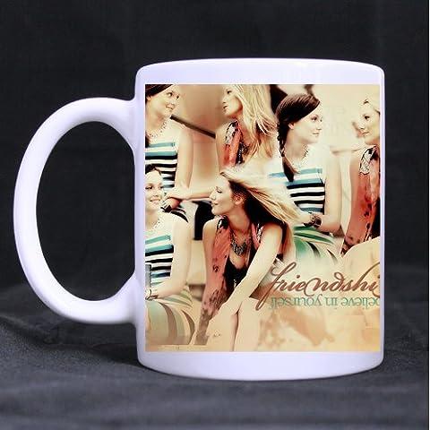 Mensuk Custom Blair and Serena Gossip Girl White Ceramic Mug Tea/Coffee Cup 11oz