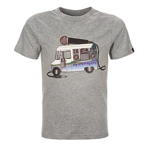 Bench Jungen Sport Pullover T-Shirt Cool Beats grau (Grey Marl) 152