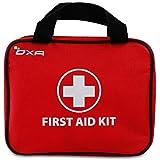 OXA Botiquín de Primeros Auxilios de 100 Artículos, Certificado por FDA, Ideal para Viajes, Oficina, Deportes, Inicio (Rojo)