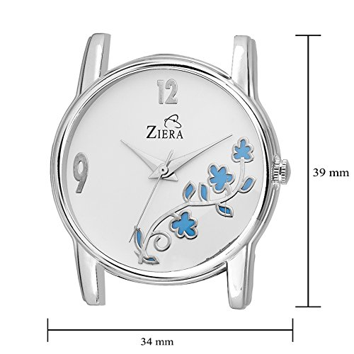 Ziera Analogue White Dial Girl'S Watch-Zr08019