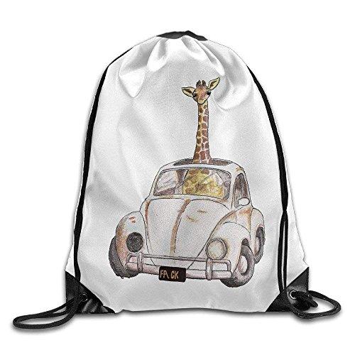HLKPE Cool Drawstring Backpack Cute Giraffe Art Design Print Drawstring Backpack Rucksack Shoulder Bags Gym Bag (Lace-designs Vans Coole Für)