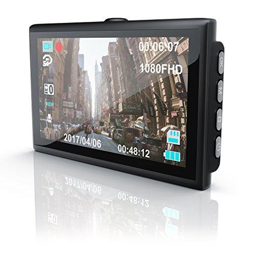 CSL - Autokamera Dashcam in Full HD mit 150° Weitwinkelobjektiv   Unfallkamera mit Loop Recording   G-Sensor   Fotomodus   Bewegungserkennung