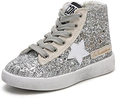 GTVERNH-la ragazza parte cerniera lampo scarpe stelle della della della moda del tempo libero per bambini piccoli scarpe sporche bianco argentoeo 23 B077HYHL2J Parent | Produzione qualificata  | Eccellente qualità  5806ac