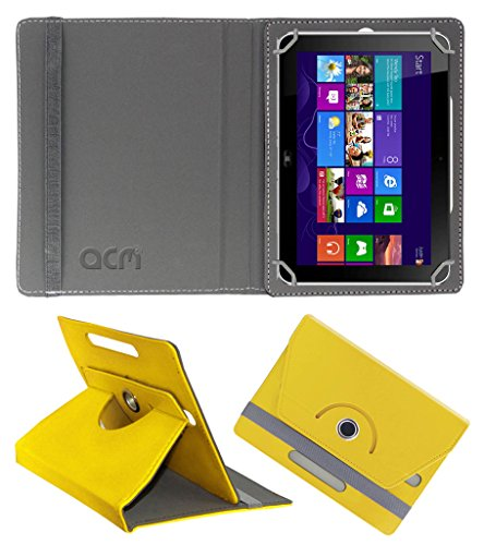 Acm Rotating 360° Leather Flip Case for Hp Elite Pad 900 G1 Cover Stand Yellow  available at amazon for Rs.189