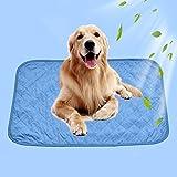 Hundekühlmatte Cool Pad Halten Sie Ihre Haustiere kühl und ruhig Cooling Pads für Hunde und Katzen nicht giftig Sommer Wärmeentlastung (L: 90*60 cm)