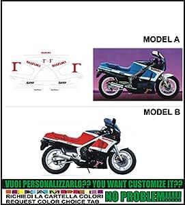Kit adesivi decal stikers SUZUKI RG 500 GAMMA 1988 (ability to customize the colors)