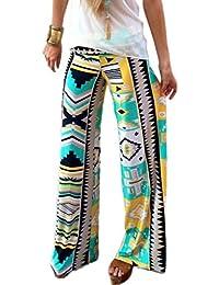 Bigood Pantalon Jogging Femme Large Jambe Danse Sport Yoga Lâche Imprimé ee7e12927461