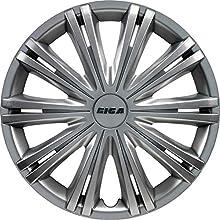 AutoStyle GIGA13 Set Copricerchio Giga 13 Silver, 4 pezzi