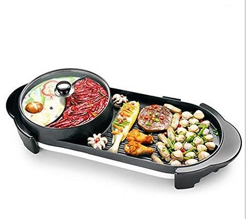 AN-LKYIQI Barbecue électrique cuisinière maison sans fumée électrique cuisson Pan Multi - Purpose Non - Stick rinçage cuit un Pot de cadeaux créatifs , mandarin duck pot