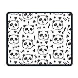 Panda-Mausunterlage, Mausunterlage, kindische Pandas-Persönlichkeits-Mausunterlagen mit Entwurf, mit genähten Kanten, Nicht Beleg-Gummi-Mausunterlage