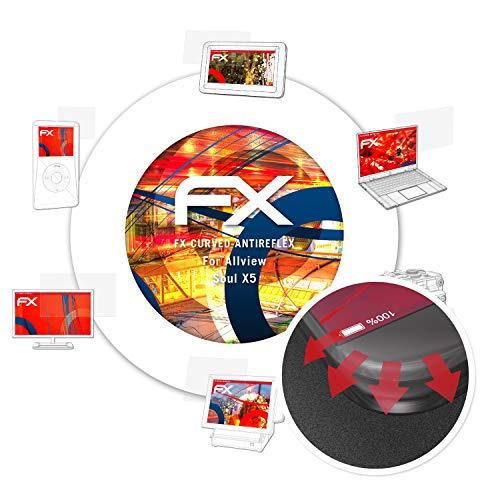 atFolix Schutzfolie passend für Allview Soul X5 Folie, entspiegelnde & Flexible FX Bildschirmschutzfolie (3X)