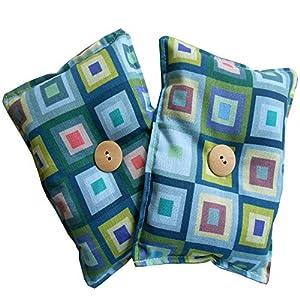 """ayuda a combatir el insomnio: Mini almohada Duerme Bien""""Kubic"""" (Pack de 2) rellenas de semillas lavanda orgáni..."""