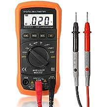 Multímetro Digital, Crenova MS8233D Detector de voltaje AC probador del metro portátil con luz de fondo