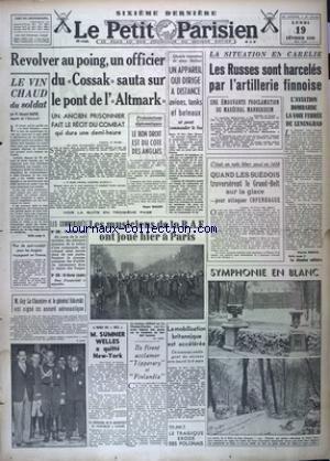 PETIT PARISIEN SIXIEME DERNIERE (LE) [No 23000] du 19/02/1940