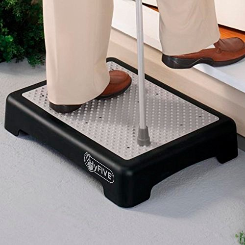 Hyfive rutschfeste Halbstufe für größere Mobilität, bei Behinderung oder für Ältere Menschen, Treppenhilfe für Draußen