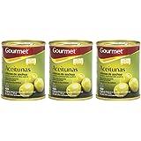 Gourmet - Aceitunas Rellenas de Anchoa Verdes Manzanilla Extra - Pack de 3 latas x 40 g - Total: 120 g