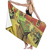 xcvgcxcvasda Asciugamano da Bagno, Art Vincent Van Gogh Oil Painting Personalized Custom Women Men Quick Dry Lightweight Beach & Bath Blanket Great for Beach Trips, Pool, Swimming And Camping 31'x51'
