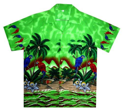 Funky Hawaiihemd, Parrot, grün, 3XL