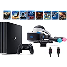 PlayStation VR Deluxe Bundle 12 Items:VR Start Bundle,PS4 Pro 1TB,8 VR Game Disc Rush of Blood,Valkyrie,Battlezone,Batman,DriveClub,Eagle, RIGS,Resident Evil 7:Biohazard(US-Version, Importiertes)