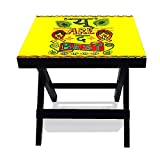 #4: Nutcase Designer Folding Wooden Side Table-Portable Foldable Compact Bed Side Coffee Table - 12 (L) x 15(w) x 16 (h)