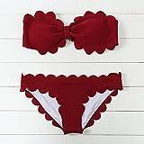 MLDYZ Lace Bikini Sommer Badeanzug Sexy Wellen Bkini, Wein Rote Serie L