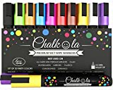 10 Neon Kreidestifte für Tafel & Fenster 6mm | Ideal als Whiteboard Marker, Kreidestift, Kreidemarker, Whiteboard Stifte, Folienstift, Glasmalstifte & Tafelstift | Feucht abwischbar | Von Chalkola