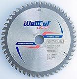 WELLCUT Saw Blade 160mm, Bore 20mm, 48 Teeth, 2.2mm Kerf for Festool Bosch Makita DeWalt etc. Industrial Quality Tungsten Carbide Tipped (TCT)