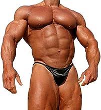 Musclealive Hombres La competencia de culturismo que presenta tronco de nylon y spandex