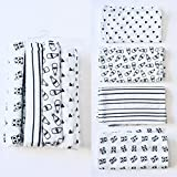 #9: Rio Pure Cotton Baby Cloth Swaddle -Monochrome print (0/12) Pack of 4 breathable fabric