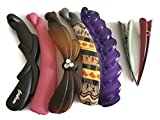 #8: Banana clips Multi-Colour Plastic Solid Banana Hair Clips for Girls and Women (Combo of 7 Hair Clips)