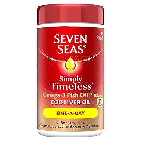 Seven Seas One-A-Day Pure Cod Liver Oil Capsules x120