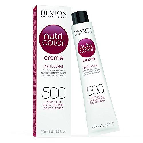 REVLON PROFESSIONAL Nutri Color Creme ,Nr. 500 Purple Red, 1er Pack (1 x 100 ml) - Rotes Haar Creme