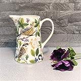 Gisela Graham British Garden Birds Krug aus Keramik Vase 15cm Geburtstag Geschenk Ihre