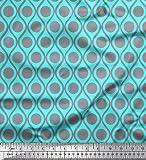 Soimoi Blau Seide Stoff Dot & Ogee Damast Stoff Drucke