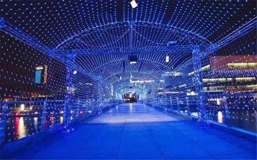 LUCKY CLOVER-A Solar String Lights Kupferdraht (52 Meter 500 LEDs, Wasserdicht, 8 Modi),Starry String Lights Outdoor, Garten, Homes, Hochzeit, Weihnachtsfeier, Holiday Decoration , blue