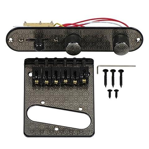 FLEOR Tele Gitarre Draht Steuerung Platte und Brücke mit klassischen Muster (Muster Draht)