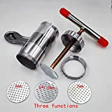 KITCHY Manual Noodle Maker Kitchen Pasta Spaghetti Press Pates Machine Vegetable Fruit Juicer Pressing Machine Stainless Steel: Three Functions - B07K5VJSDB