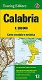 Calabria 1:200.000. Carta stradale e turistica. Ediz. multilingue