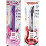 Vibgyor Vibes™ Musical And Light Guitar Toy For Kids, Boys And Girls. Random Color Will Be Sent. 21 Inches, Pack Of 1