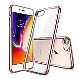 ESR iPhone 8 Hülle, iPhone 7 Hülle, Transparant Durchsichtig [Ultra Dünn] Klar Weiche TPU Schutzhülle [Kabelloses Aufladen Unterstützung] für Apple iPhone 8/7 4.7 Zoll 2017 - Rosegold