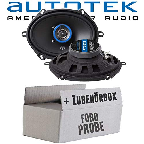 Lautsprecher Boxen Autotek ATX-572 | 2-Wege oval 13x18cm Koax Lautsprecher 5\'x7\' Auto Einbauzubehör - Einbauset für Ford Probe Heck oval - JUST SOUND best choice for caraudio