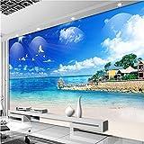 Mddjj Malediven Landschaft Wandbild Größe 3D Wandmalereien Tapete Für Wohnzimmer Schlafzimmer Sofa Hintergrund Fototapete 3D Wohnzimmer Kinderzimmer