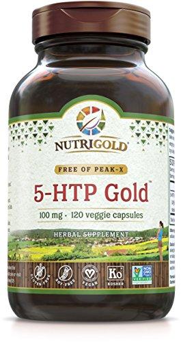 5-HTP capsule vegetariane 100mg (120 compresse) - Garantito non contiene OGM e Peak-x - 51pkxP6qFlL