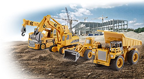 RC Auto kaufen Baufahrzeug Bild 5: Revell Control 23495 RC Baufahrzeug Kipplaster ferngesteuertes Auto, gelb-orange, Länge: ca. 10 cm*