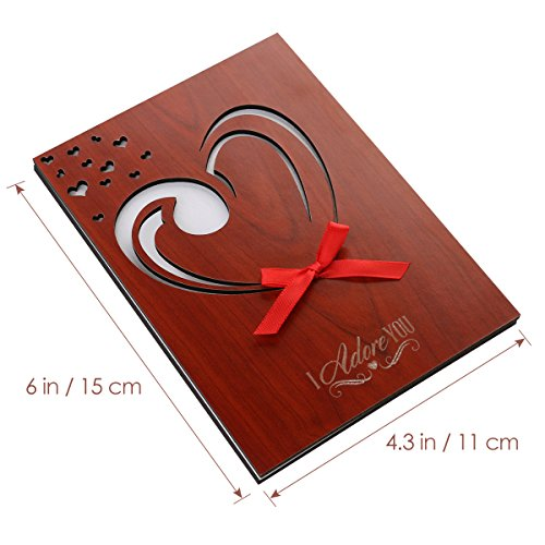 Unomor Valentine's Day Card, Love Card Handmade Wood Greeting Card With Gift Box for Mum, Birthdays, Anniversary, Weddings with Gift Box